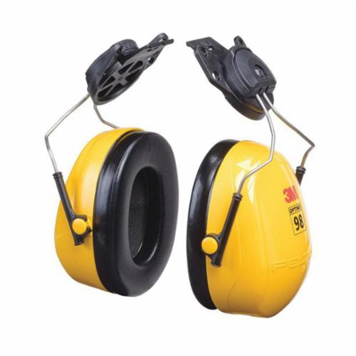 3M™ Peltor™ Optime™ 093045-08093 Ear Muff, 23 dB Noise Reduction, Yellow/Black, Hard Hat Mounted Band Position, CSA Certified Class A