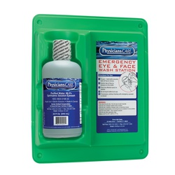 PhysiciansCare® 24-202-001 Single Eyewash Station, 32 oz Bottle, Wall Mount, OSHA 29 CFR 1910.151