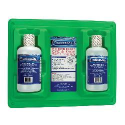 PhysiciansCare® 24-300-001 Twin Eyewash Station, 32 oz Bottle, Wall Mount, OSHA 29 CFR 1910.151