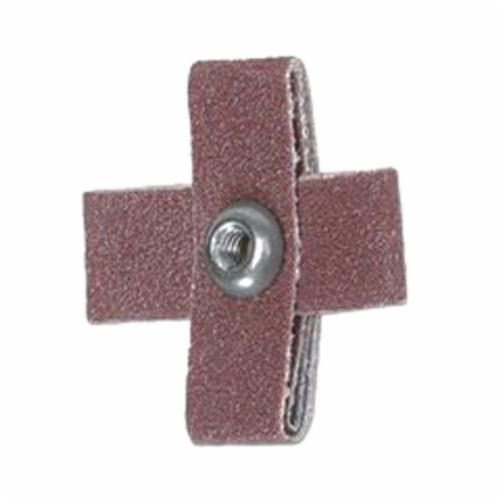 Norton® Merit® 08834185519 17593 Coated Cross Pad, 1 in L x 1 in W x 3/8 in THK, 80 Grit