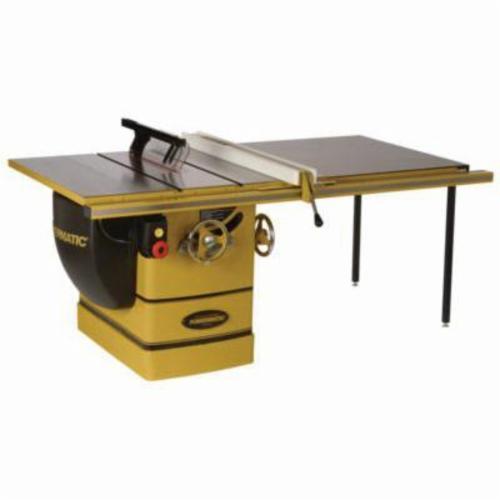 Powermatic® 1720305K PM3000 Cabinet Table Saw, 14 in Dia Blade, 1 in Arbor/Shank, 3-1/2 in 45 deg Capacity, 5-1/8 in 90 deg Capacity, 7-1/2 hp, Tool Only