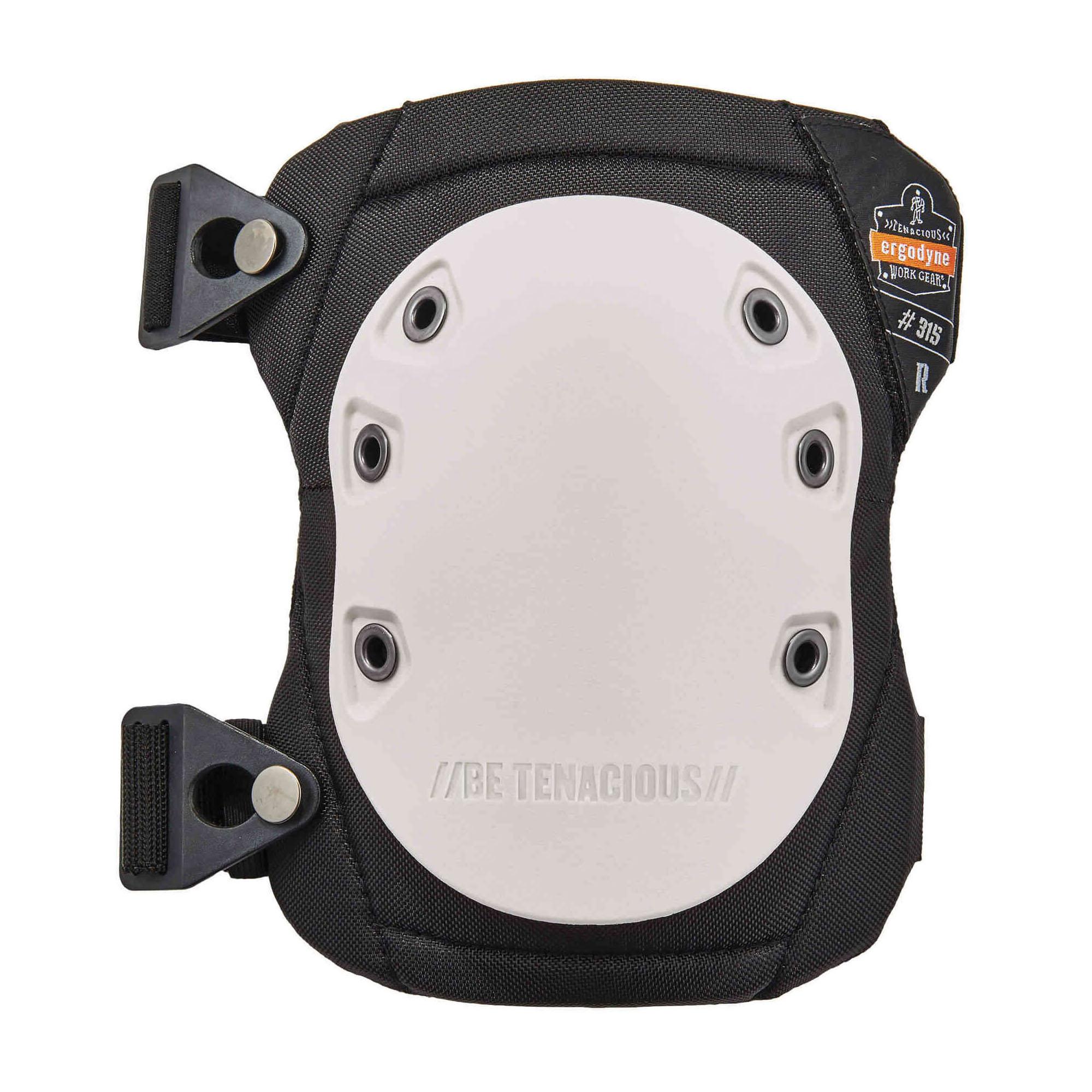 ProFlex® 18315 Long Textured Cap Knee Pads, NBR Foam Pad, Buckle Closure, White