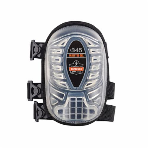 Ergodyne® ProFlex® 18346 345 Extra Long Cap Style, Gel/Polyurethane Foam Cap, Gel/Polyurethane Foam Pad, 3 Straps, Black