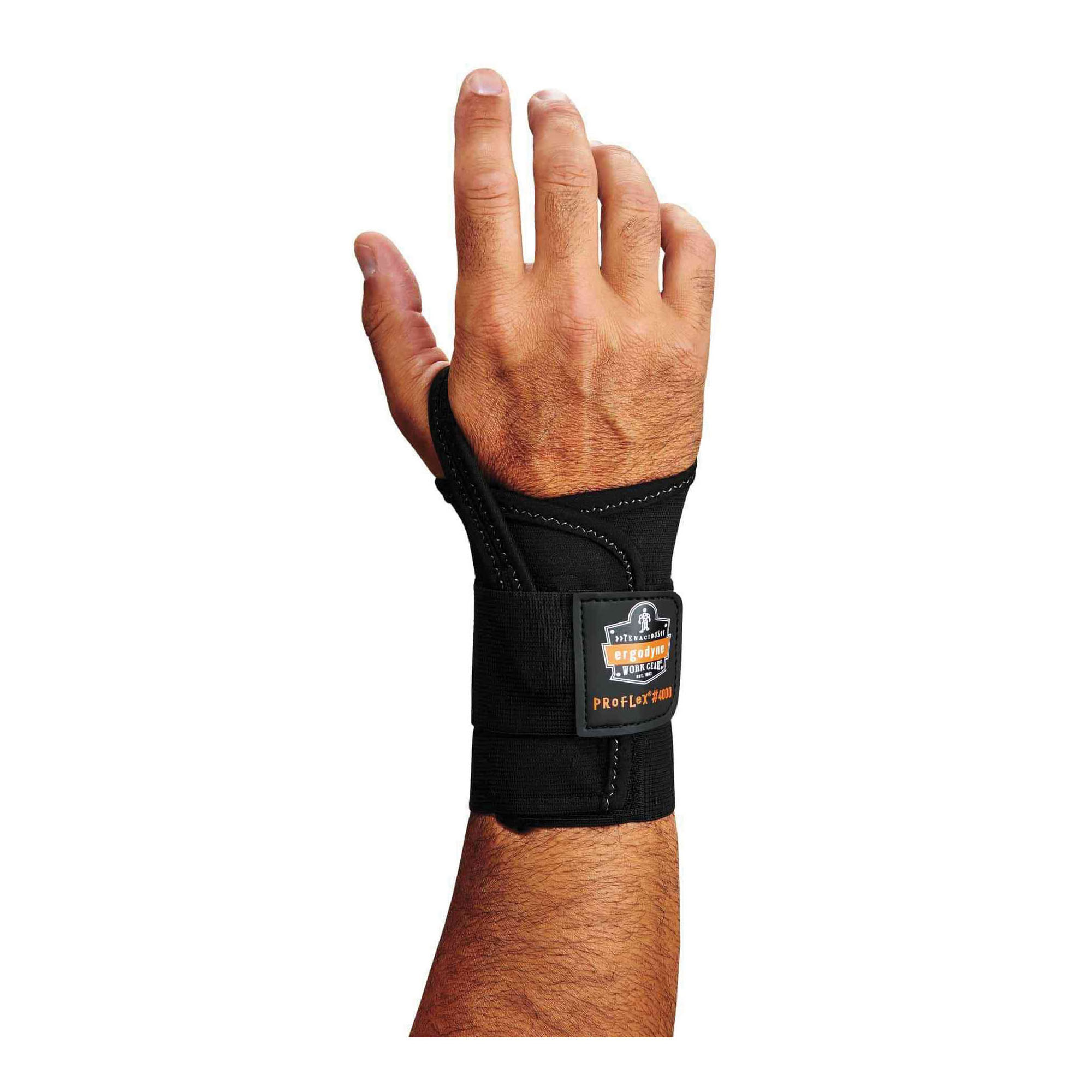 ProFlex® 70002 4000, S, Right Hand, 2-Stage Hook and Loop Wrist/Elastic Closure, Black