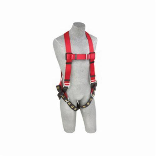 3M Protecta Fall Protection 1191237 Pro™ Harness, M/L, 420 lb Load, Polyester Webbing Strap, Tongue Leg Strap Buckle, Stainless Steel Grommet/Steel Hardware, Red