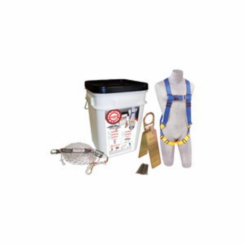 3M Protecta Fall Protection 2199803 Compliance in a Can™ Reusable Roofers Kit With Snap Hook, Specifications Met: OSHA Approved