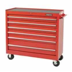 Proto® J444142-6RD 440SS Standard Duty Mobile Work Station, 41 in L x 41-1/2 in W x 42 in H, 3000 lb Load, Red