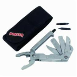 Proto® J18575 Multi-Purpose Tool, Plier, 9 Tools, 15 Functions, Stainless Steel Blunt Nose Jaw, 5-5/8 in L Closed