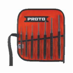 Proto® J47A 2-Piece Design Drive Pin Punch Set, Drive Pin, 7 1/16 to 1/4 in Punch, 6-3/8 in OAL, 7 Pieces