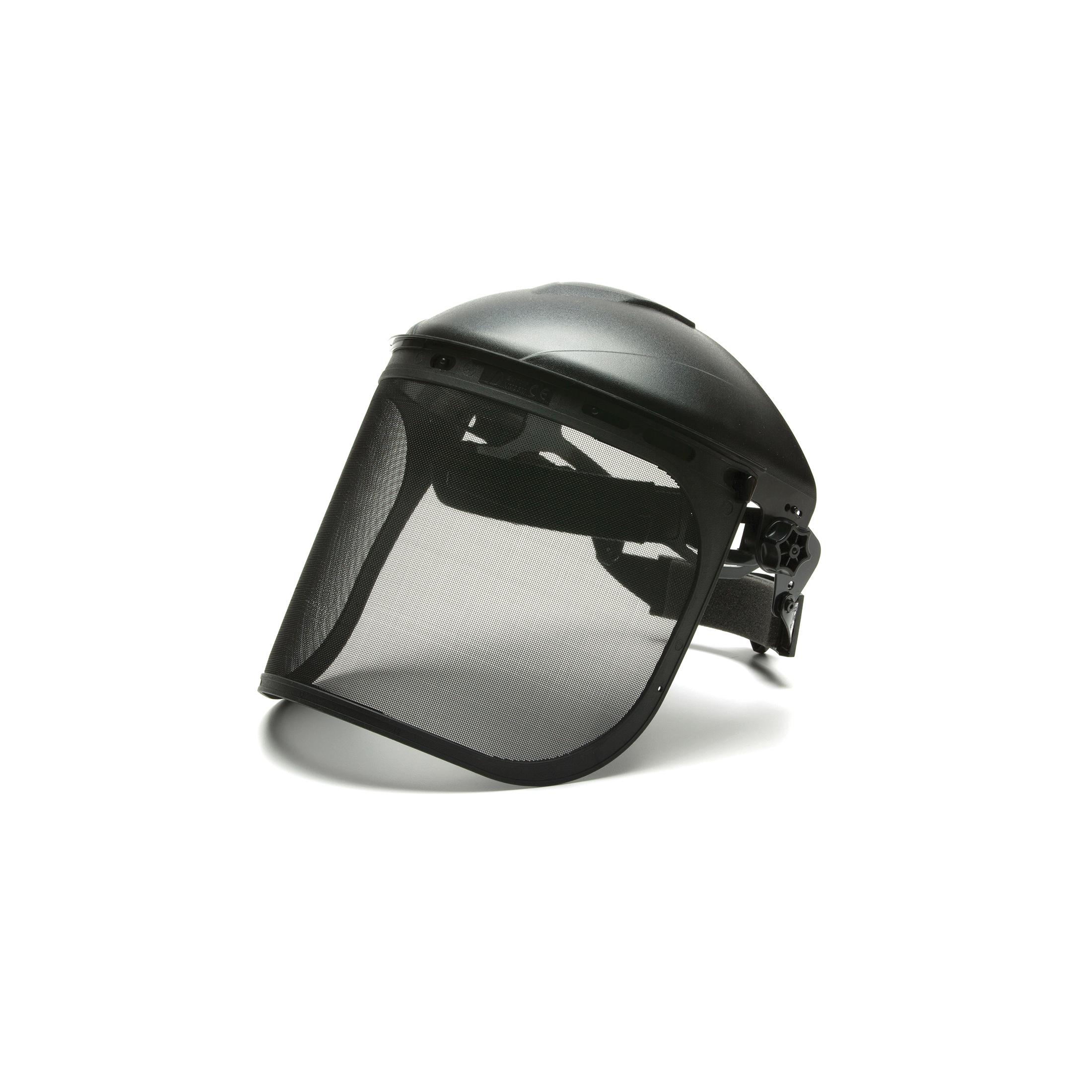 Pyramex® S1060 Face Shield, 8 in H x 15-1/2 in W, Black, Nylon/Steel Wire Mesh