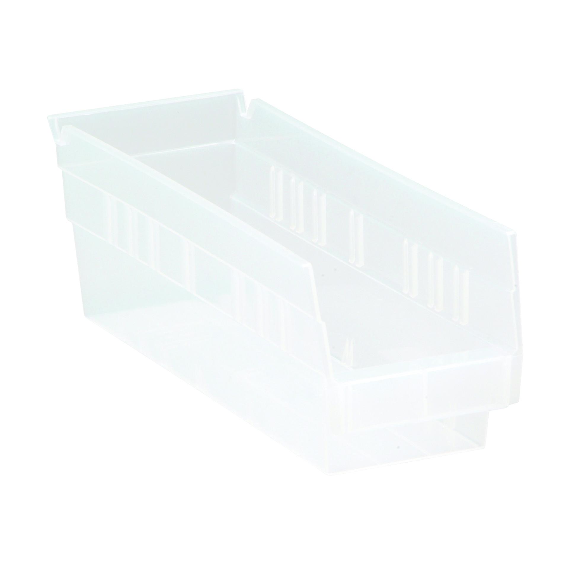 Quantum® QSB101CL Economy Shelf Bin, 11-5/8 in L x 4-1/8 in W x 4 in H, 0.07 cu-ft, Clear