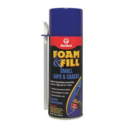 Red Devil® Foam and Fill® 0913 Minimal Expanding Foam Sealant, 12 oz Aerosol Can with Nozzle, Aerosol Can Form, Champagne
