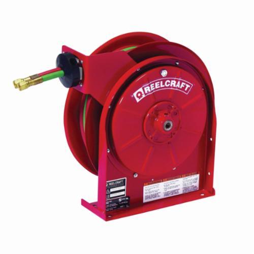 Reelcraft® TW5425 OLPT Dual Swivel Premium Duty Spring Drive Hose Reel, 9/16-18 Female Hose Outlet, 1/4 in ID x 25 ft L Hose, 200 psi Pressure, 150 deg F