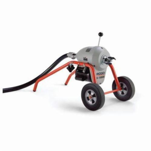 RIDGID® 27617 K-1500B Sectional Drain Cleaning Machine, 3 to 10 in Drain Line, 200 ft Max Run, 3/4 hp, 220 VAC