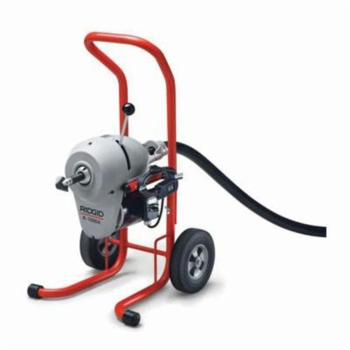 RIDGID® 27592 K-1500A Sectional Drain Cleaning Machine, 2 to 4 in Drain Line, 175 ft Max Run, 3/4 hp, 220 VAC