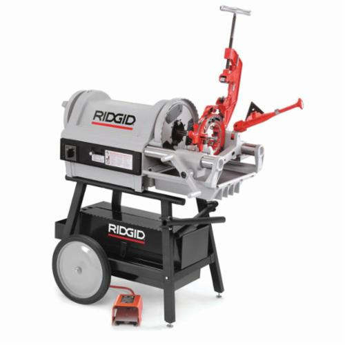 RIDGID® 26097 1224 Kit Threading Machine Kit, 1/2 to 4 in Pipe, 1/4 to 2 in Bolt, 240 VAC, 1.5 hp, 36/12 rpm Speed