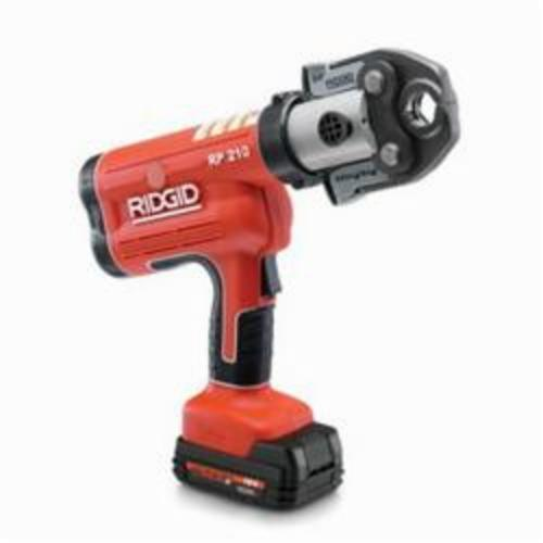 RIDGID® 31028 RP 210-B Battery Press Tool Kit With ProPress Jaws, 1/2 to 1-1/4 in Capacity, 5400 lb, 4 to 5 s Crimp, 18 VDC, Li-Ion Battery
