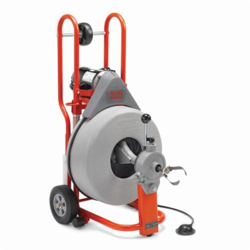 RIDGID® 41977 K-750 Drum Drain Cleaning Machine Kit, 4 to 8 in Drain Line, 200 ft Max Run, 1/2 hp, 115 VAC, Steel Housing