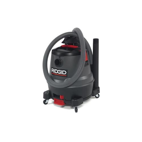 RIDGID® Pro Pack® 50333 Motor-On-Bottom Wet/Dry Vacuum, 12 A, 12 gal Tank, 6.5 hp Power Rating