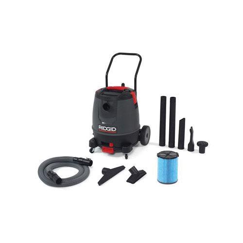 RIDGID® 50338 Motor-On-Bottom Wet/Dry Vacuum, 12 A, 16 gal Tank, 6.5 hp Power Rating