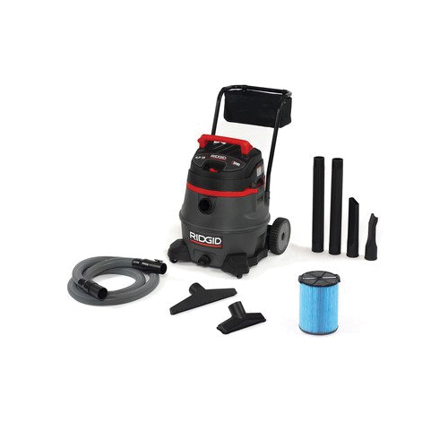RIDGID® 50348 Wet/Dry Vacuum, 11 A, 14 gal Tank, 6 hp Power Rating, Polypropylene Housing