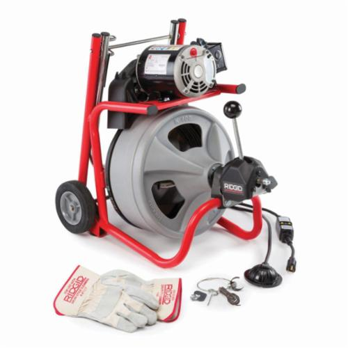 RIDGID® 26998 K-400 Drum Drain Cleaning Machine Kit, 3 to 4 in Drain Line, 1/3 hp, 115 VAC