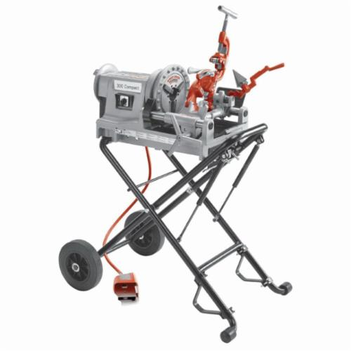 RIDGID® 66947 300 Compact Kit Threading Machine Kit, 1/8 to 2 in Pipe, 1/4 to 2 in Bolt, 115 VAC, 1/2 hp, 36 rpm Speed