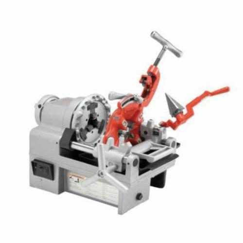 RIDGID® 61142 1215 Kit Threading Machine Kit, 1/4 to 1-1/2 in Pipe, 25-1/2 in L x 14 in W, 5/16 to 1 in Bolt, 115 VAC, 1/2 hp, 44 rpm Speed