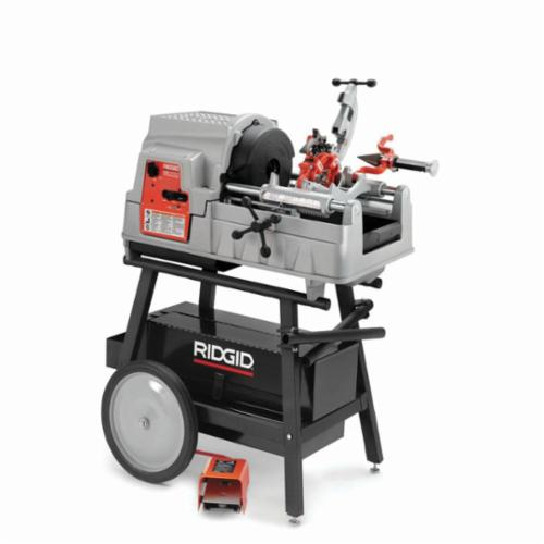 RIDGID® 84097 Threading Machine Kit, 1/2 to 2 in Pipe, 48 in L x 29 in W, 1/4 to 2 in Bolt, 120 VAC, 2 hp, 16/46/58 rpm Speed