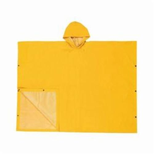 River City 2000 Schooner II Poncho With Attached Hood, Universal, 40 in L, Yellow, 0.35 mm PVC/Polyester