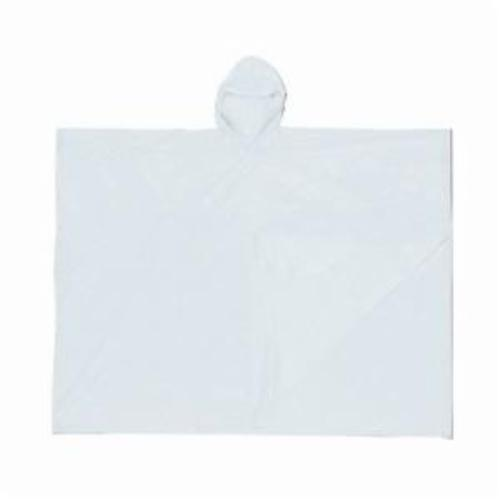 River City O42 Schooner I Disposable Schooner Poncho With Attached Hood, Universal, 52 in L, Clear, 0.1 mm PVC