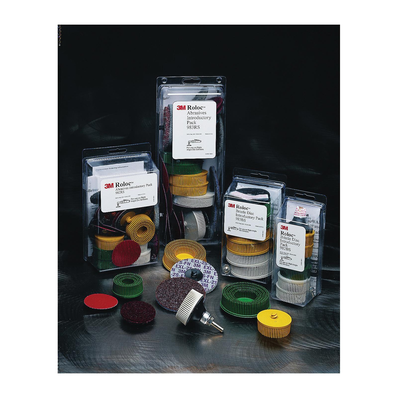 Roloc™ 048011-18696 982BS Quick-Change Straight Bristle Disc Kit, Ceramic Aluminum Oxide