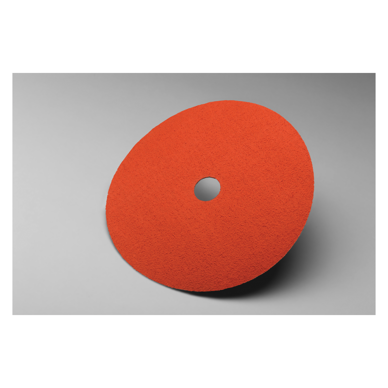 3M™ 051144-80657 Close Coated Abrasive Disc, 7 in Dia, 7/8 in Center Hole, P120 Grit, Medium Grade, Aluminum Oxide/Ceramic Abrasive, Arbor Attachment