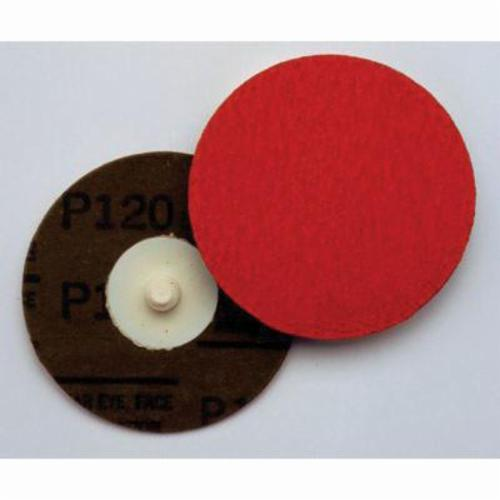 3M™ 051144-85883 Close Coated Quick-Change Abrasive Disc, 3 in Dia, 36 Grit, Extra Coarse Grade, Aluminum Oxide/Ceramic Abrasive, Quick-Change Type TR Attachment