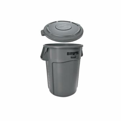 Rubbermaid® BRUTE® FG261960GRAY Trash Can Lid, Round Container, Plastic, Gray, 19.88 in L x 19.88 in W