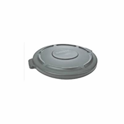 Rubbermaid® BRUTE® FG263100GRAY Container Lid, Round Container, Plastic, Gray, 24.21 in L x 22.409 in W