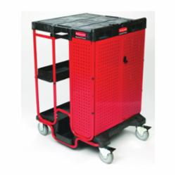 Rubbermaid® FG9T5800BLA Ladder Cart With Cabinet, 31-1/2 in L x 27 in W x 42 in H, 500 lb Load, Black