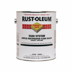 Rust-Oleum® 251282 5500 System 1-Component Dust Proof Acrylic Dustproofer Floor Sealer, 1 gal Container, Liquid Form, Clear, 150 to 400 sq-ft/gal Coverage