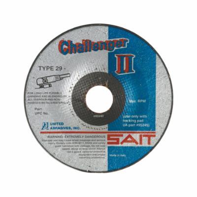 SAIT® Challenger II™ 27501 General Purpose Grinding Wheel, 4-1/2 in Dia x 1/8 in THK, 7/8 in Center Hole, 60 Grit, Coarse Grade, Aluminum Oxide Abrasive