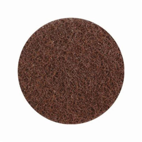 UA® Sait-Lok-R™ 77308 General Purpose Non-Woven Abrasive Disc, 2 in Dia, Medium Grade, Aluminum Oxide Abrasive, Screw Threaded Hub Attachment