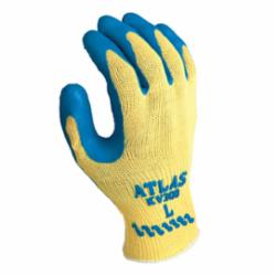 Atlas® by Showa Best KV300L-09 Cut Resistant Gloves, L/SZ 9, Latex/Natural Rubber Coating, Natural Rubber, Knit Wrist Cuff, Resists: Abrasion, Cut and Puncture, ANSI Cut-Resistance Level: A3