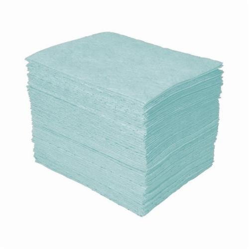 SPC® Universal Plus™ SPCUN1719 Medium Weight Perforated Absorbent Pad, 19 in L x 15 in W x 3-Ply THK, 20.5 gal Absorption Capacity, Meltblown-Meltblown-Meltblown Polypropylene