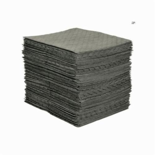 SPC® MRO Plus® MRO300 Mediumweight Perforated Absorbent Pad, 19 in L x 15 in W x 3 ply THK, 20.5 gal Absorption, Meltblown-Meltblown-Meltblown Polypropylene