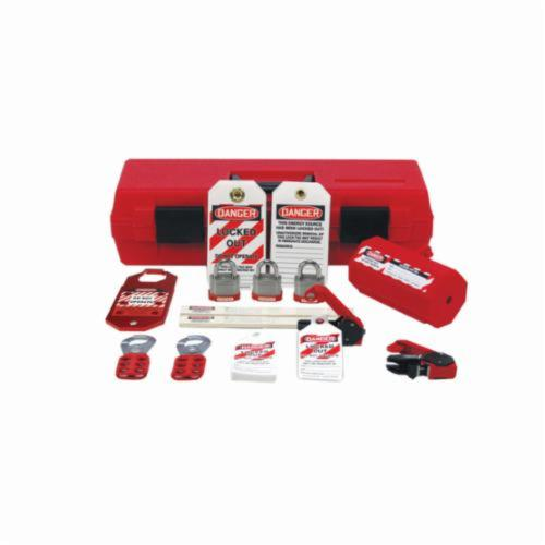 STOPOUT® KSK234 Portable Lockout Kit, Filled, 110 Pieces, 3 Padlocks, 4-3/4 in H x 18 in W x 6-1/2 in D, Language: English