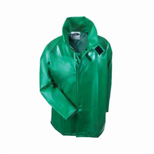Tingley Safetyflex® J41008-LG High Performance Rain Jacket, Men's, L, Green, Polyester/PVC, Resists: Many Acids, Oils, Alcohols, Salts and Alkalies, Chemicals, Caustics, Flame and Mildew, ASTM D6413