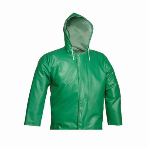 Tingley Safetyflex® J41108-4X Flame Resistant Jacket, Green, PVC Coated Polyester, 60 to 62 in Chest, Resists: Caustics, Chemicals, Flame, Industrial Acid, Mildew and Water, Specifications Met: ASTM D6413