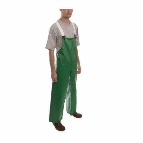 Tingley Safetyflex® O41008-LG 2-Piece Bib Overall, Unisex, L, Green, 17 mil PVC on 150D Polyester, 50 in L Inseam