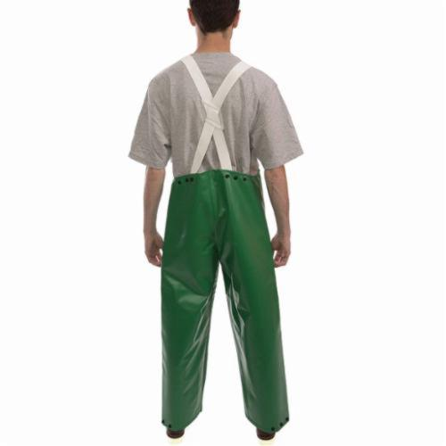 Tingley Safetyflex® O41008-3X 2-Piece Bib Overall, Unisex, 3XL, Green, 17 mil PVC on 150D Polyester, 32 in L Inseam