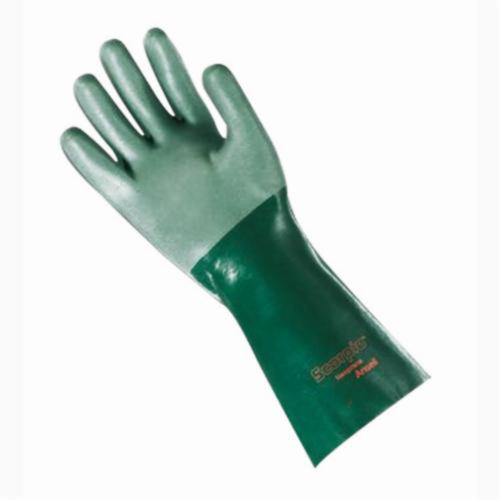 Ansell Scorpio® 212515 8-354 Fully Coated Heavy Duty Chemical-Resistant Gloves, SZ 8, Neoprene, Green, Cotton Interlock Knit Wrist Lining, 14 in L, Resists: Acid, Caustic, Oil and Solvent, Supported Support, Gauntlet Cuff