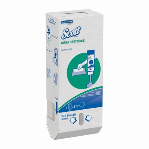 Scott® 98908 Mega Cartridge Napkin, 6.5 x 8.4 in Sheet, 1 Plys, White